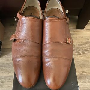 EUC‼️MENS ALDO BROWN LEATHER MONK STRAPS SIZE: 13
